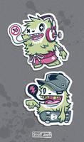 Yeti Stickers by cronobreaker