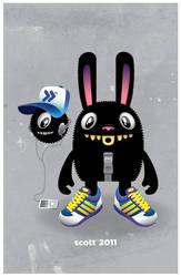 Bunny Ball by cronobreaker