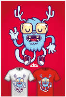 Cute Monster Tee Design 3 by cronobreaker