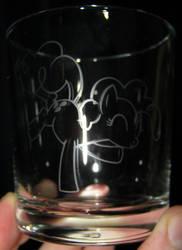 Pinkie Pie Jam glass by nekomatafuyu