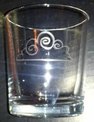 Raincloud mixer glass by nekomatafuyu