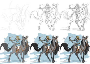 Breath of the Wild art process by iheartsonic