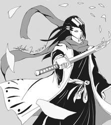Byakuya Kuchiki by iheartsonic