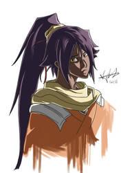 Yoruichi Bust by iheartsonic