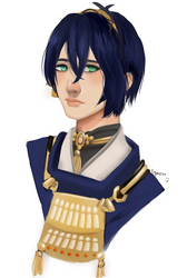 SPEEDPAINT: Mikazuki FANART by lighterHellios