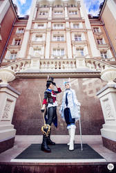 Tsukiuta Hajime and Shun cosplay by EveGeist
