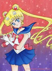 Sailor Moon on canvas by yuzukko