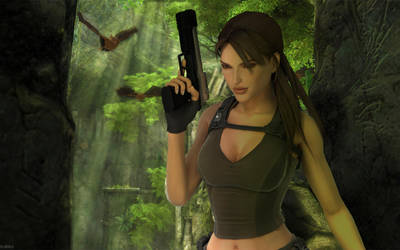 Lara in the Jungle by Dephilis