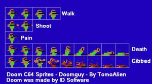 C64 Doom - Doomguy by TomoAlien