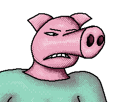 This Pig Is Angry About Something by TomoAlien
