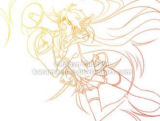 Love is War - Colored Sketch by kuramachan