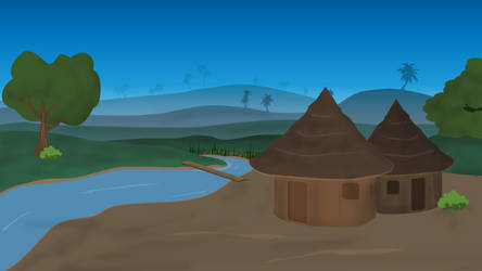 African Village Huts by elirab007