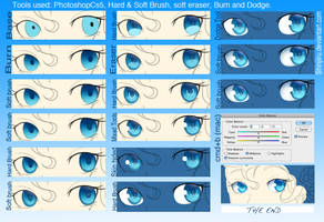 Easy Eye-colouring tutorial by shinjiiru