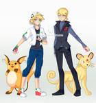 Pokemon trainers_Miraculous brothers by shinjiiru