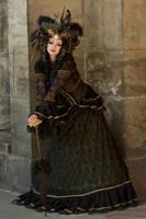 Stock - Black  gold Vampire Queen Faun Demon 18 by S-T-A-R-gazer