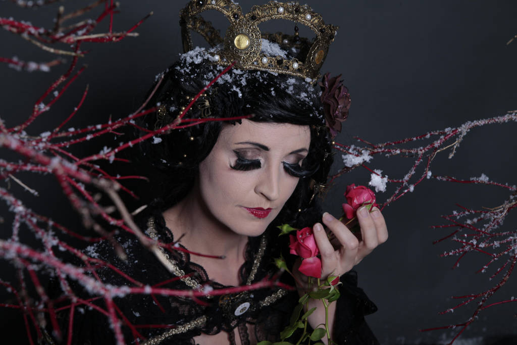 Stock - Fairy tale Fantasy Snow white roses 2 by S-T-A-R-gazer
