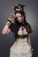 Stock - Steampunk Key woman sad by S-T-A-R-gazer