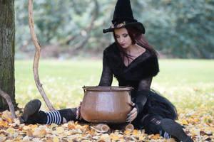 Stock - Halloween special witch .. Cauldron .. by S-T-A-R-gazer