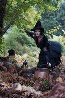 Stock - Halloween special witch  Cauldron scene by S-T-A-R-gazer