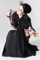 Stock - Gothic Steampunk woman sitting by S-T-A-R-gazer