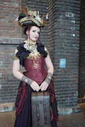 Stock - Steampunk lady pirate pirat travel by S-T-A-R-gazer