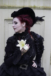 Stock - Vampire flower sideview portrait gothic by S-T-A-R-gazer