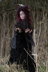 Stock - Voodoo woman conjures magic dark spell by S-T-A-R-gazer