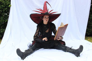 Stock - Witch with a book sitting 1 by S-T-A-R-gazer
