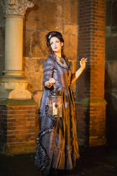 Stock - Baroque Lady with lantern full body 2 pose by S-T-A-R-gazer