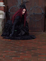 Stock - Victorian gohtic Lady ground pose by S-T-A-R-gazer