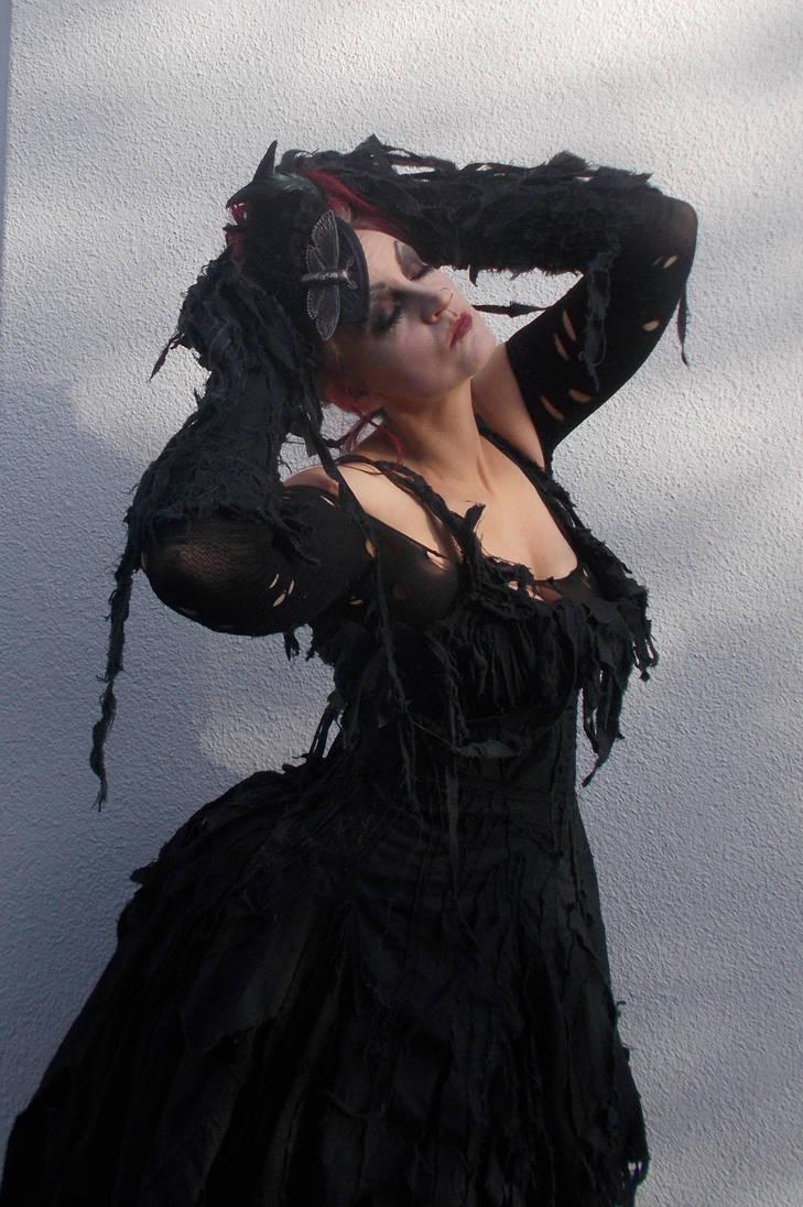 Stock - The moth lady halloween dress by S-T-A-R-gazer