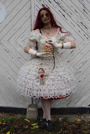 Stock - Voodoo puppet doll halloween stand  pose 9 by S-T-A-R-gazer