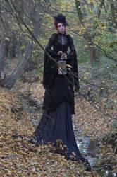 Stock - Gothic autumn lady lantern full body 6 by S-T-A-R-gazer