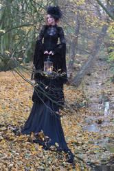 Stock - Gothic autumn lady lantern full body 7 by S-T-A-R-gazer