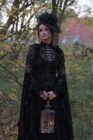 Stock - Gothic lady holding lantern portrait 2 by S-T-A-R-gazer
