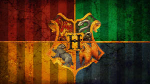hogwarts crest grunge wallpape by Carvedincandy