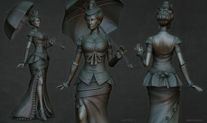 Lady sculpt2 by stalsky