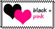 Black and Pink stamp by BlissSlyOne