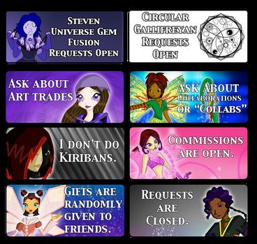 Art Status Stickers by PurpleAmharicCoffee
