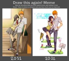 Draw IchiRuki again! by Cygnetzzz