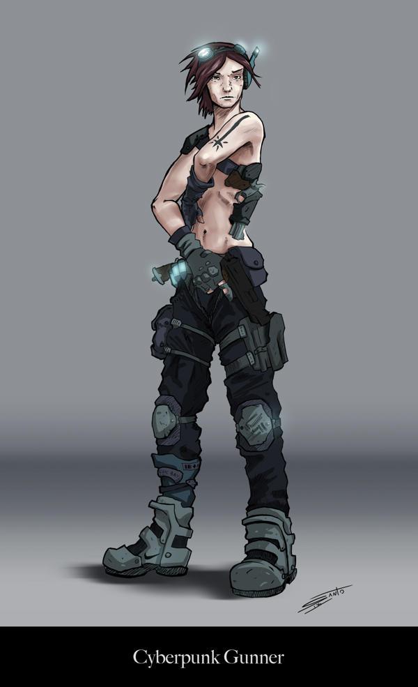 Cyberpunk Gunner by deadinsane