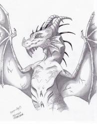 winged dragon shading work. by dragon-man13