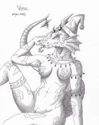 naughty vena for christmas 2016 by dragon-man13