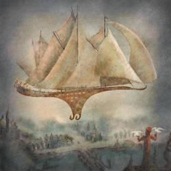 Airship by nahojis