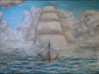 Fantasy ship by nahojis