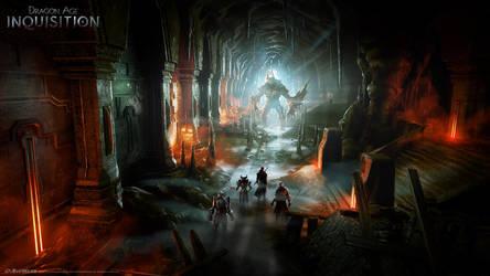 DA:I - Cave by MattRhodesArt