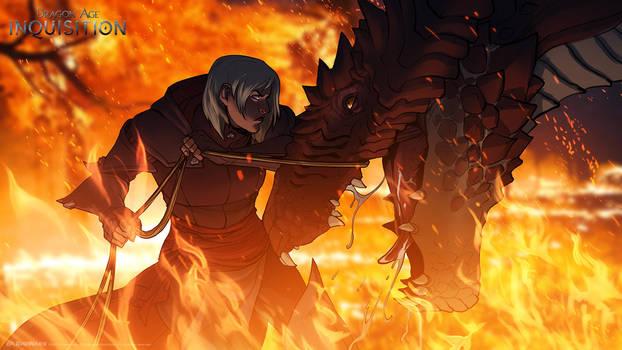 DA:I -Dragon Tamer by MattRhodesArt