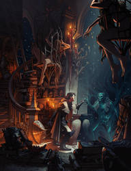 The Gray Mouser at the Bazaar of the Bizzare by MattRhodesArt