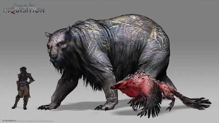 DA:I - Greater Wilderness Creatures by MattRhodesArt