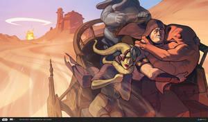 ILM Art Department Challenge: The Moment -Tatooine by MattRhodesArt